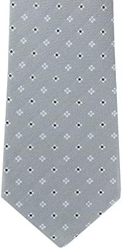 Grey Mini Neat Silk Tie by Michelsons of London