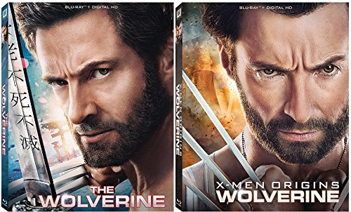 The Wolverine & Wolverine X-Men Origins Blu Ray Combo Marvel Super Hero power Digital HD Marvel Comics Bundle Set