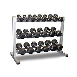 Body-Solid 3 Tier Rack & Bodypower 10,12.5,15,17.5,20,2...