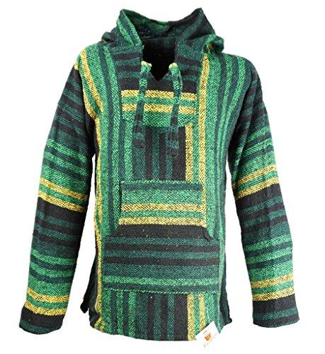 Funny Guy Mugs Premium Baja Hoodie Sweatshirt Pullover Jerga Poncho (Lucky Charm, -
