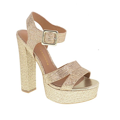 Chinese Laundry Women's Allspice Platform Sandal, Champagne Glitter, 9 M - Spice Platform Shoes Girls
