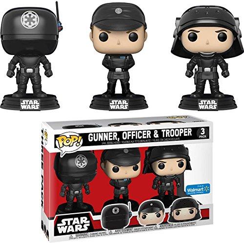Funko Pop Walmart Exclusive Star Wars 3-Pack Death Star Gunner, Officer, and Trooper - Exclusive Star