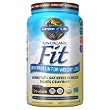Garden of Life Raw Organic Fit Powder, Chocolate - High Protein for Weight Loss (28g) plus Fiber, Probiotics & Svetol, Organic & Non-GMO Vegan Nutritional Shake, 20 Servings
