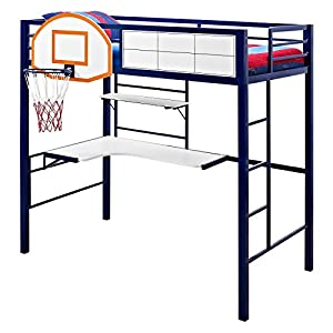 Powell Hoops Basketball Bed Twin Loft Bed - Blue