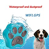LotusPets 3G pet GPS Tracker GPS Locator Dog cat Anti-Lost Device Mini Waterproof pet WiFi Locator Electronic Fence pet Tracker,Blue