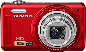 Olympus VR-310 - Cámara Digital Compacta, 14 MP (3 pulgadas, 10x Zoom óptico) - Rojo