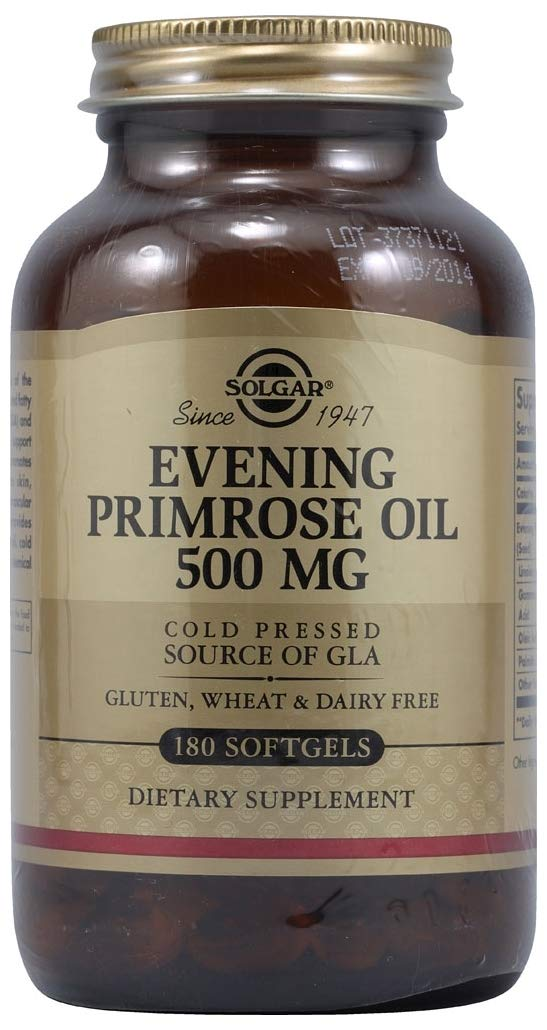 Solgar - Evening Primrose Oil, 500 mg, 180 Softgels, 2 Pack - Supports Women's Nutrition