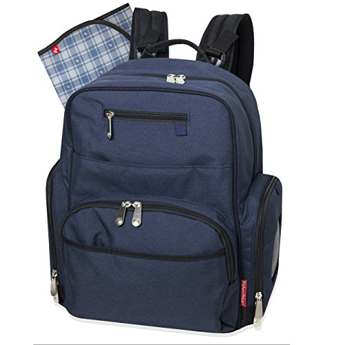 Fisher Price Backpack Diaper Bag - Fastfinder Denim (Changing Denim Pad)