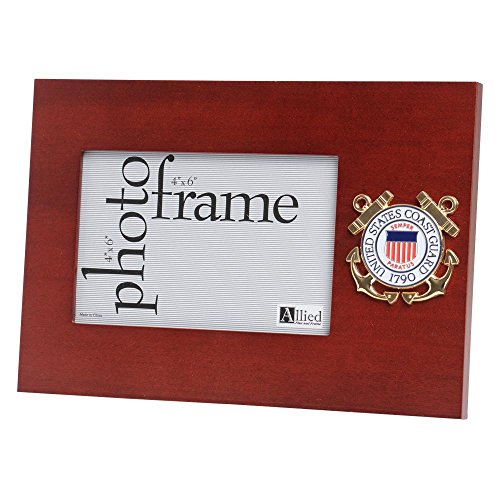 Coast Guard Photo Frame - Allied Frame US Coast Guard Medallion Desktop Landscape Picture Frame - 4 x 6 Inch