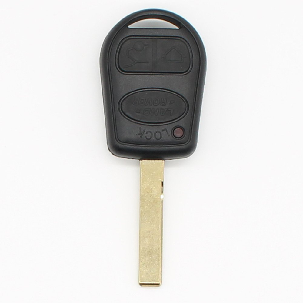 3 Buttons Remote Key Fob Cover Key Shell Case for Land Rover Range Rover 2002 2003 2004 2005 2006 Sport 2006 Uncut Blade