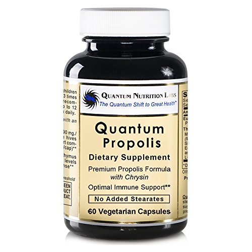 Quantum Propolis, 60 veg caps - Natural Propolis Formula for Quantum-State Immune Support (Veg Formula Caps Support Herbal)