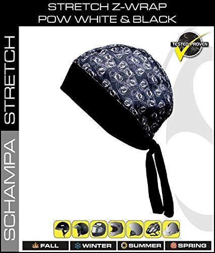 Moisture Wicking Stretch Z-Wrap Military Black Grey (POW MIA) Biker Bandanna Headwrap Durag Head Wrap
