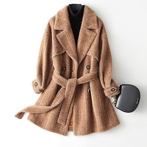 D'hiver Section D'automne Une Avec De Longue Courte Cachemire Atr B En Manteau Femmes Et Dans Laine fgcawq