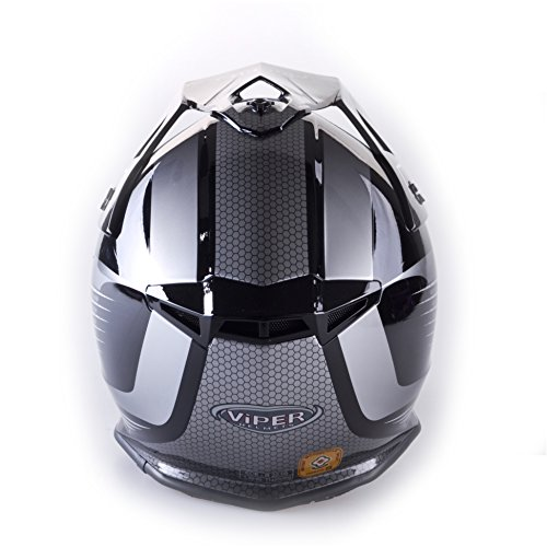 Amazon.es: VIPER RS X95 MOTOCROSS MOTO QUAD ATV DIRT ENDURO OFF ROAD DEPORTE CARRERAS MOTO CASCO NEGRO (L (59-60 CM))
