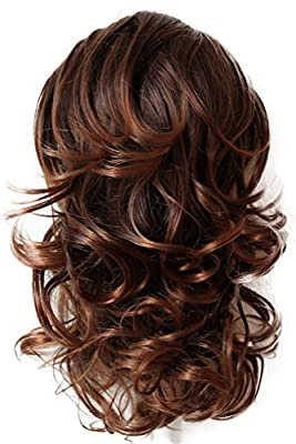 PRTTYSHOP Hair Piece Pony Tail Extension Draw String Voluminous Curly Heat-Resisting