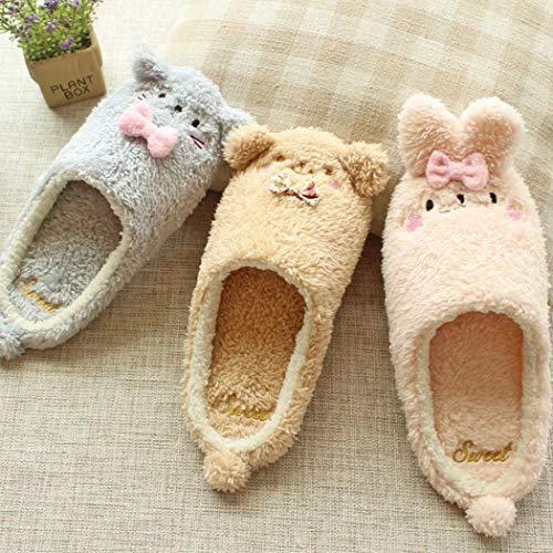 Super Chaussons Adorables Donad Chaussures Mignon Lapin A Anti Chaud Ours Chambre Maison Slip Porter Doux De Hiver Des wqYqAX