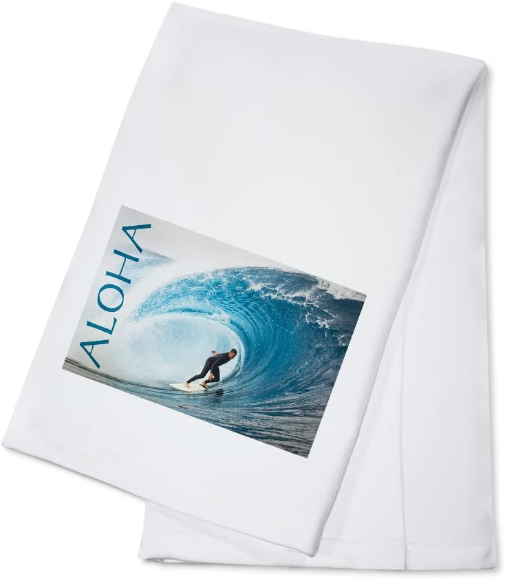 Surfer In Perfect Wave Aloha 100 Cotton Kitchen Towel Kitchen Dining