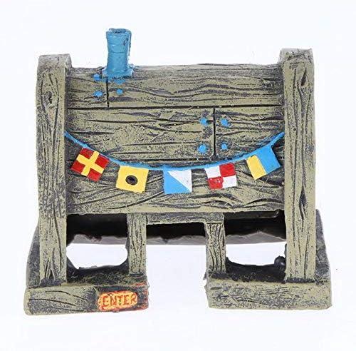 JLB per Acquario e Acquario Decor Spongebob Figure Ornamenti Pineapple HouseFishs Tank Decorazione Decor Accessori per acquari, 10 x 8,6 x 6 cm, Come Immagine