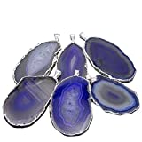 1 Purple Agate Druzy Pendant Plated in Silver with RP COA (AM2B2-08)