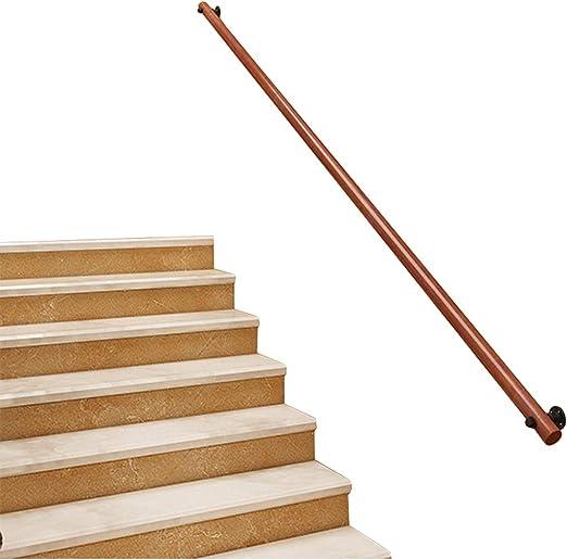 IMBM-Pasamanos Barandilla roja clásica de Madera, Escaleras Escalera Barandilla Barandilla Soporte de riel Kit, Ideal para Postes de Escalera: Amazon.es: Hogar