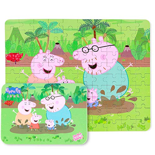 JC Peppa Pig Children100 Piece Jigsaw Puzzle Game for 3-8 Age,Educational & Inspirational Kid Jigsaw Puzzles,Portable Box Pack Toy