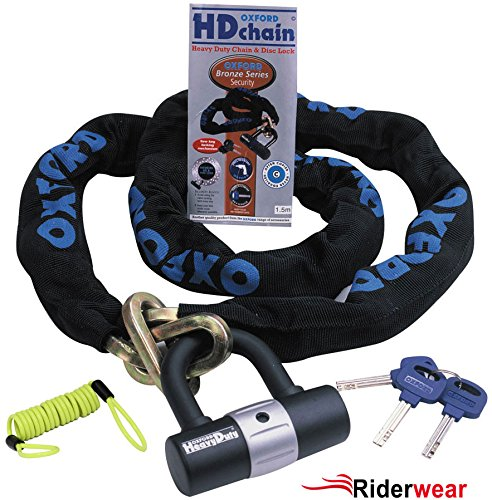 Oxford H/D Sold Secure Motorbike Chain and Lock 2.0