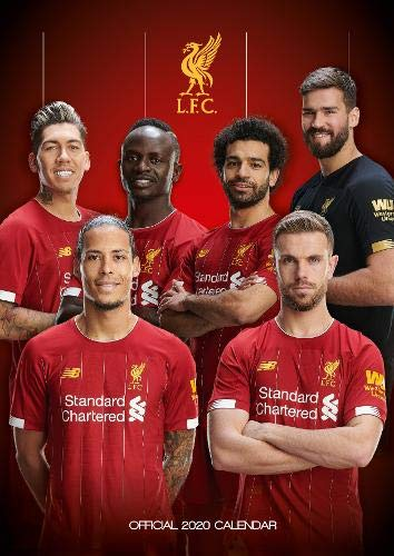 liverpool fc 2020 calendar official a3 month to view wall calendar amazon co uk liverpool fc books liverpool fc 2020 calendar official