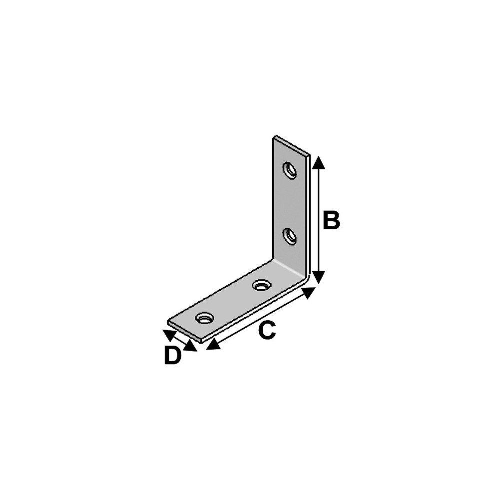 H x L x l x /ép Alsafix 100 /équerres de chaise 60 x 60 x 20 x 2 mm Alsafix AL-EC060060