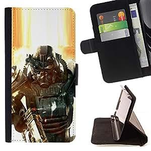 Momo Phone Case / Flip Funda de Cuero Case Cover - Fall0out Soldado;;;;;;;; - Samsung Galaxy Note 4 IV