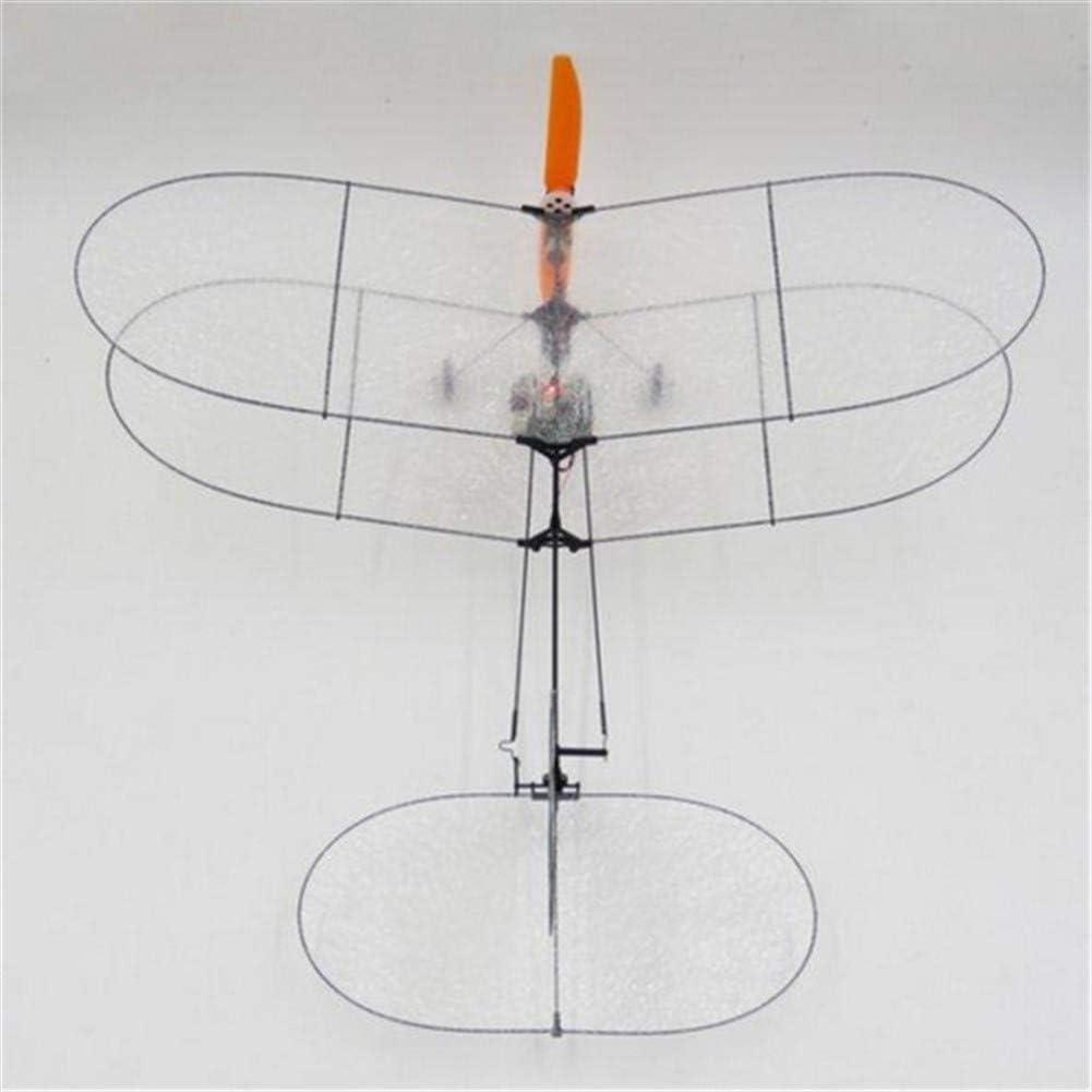 ZQALOVE TY Black Model Flyer V2 Carbon Fiber Film RC Avion Kit avec syst/ème dalimentation de Bons mod/èles Cadeaux