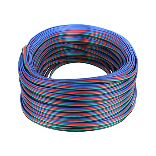 HKBAYI® 100M 328FT 4-Pin RGB Extension Wire Cable For 3528 5050 LED Strip light