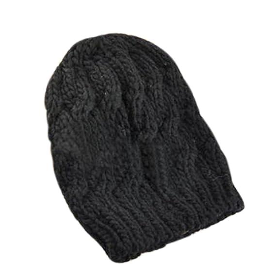 Gilroy Sombrero Invierno ganchillo de lana para tejer trenzada - Gorro de  esquí para mujer 9ab25629751