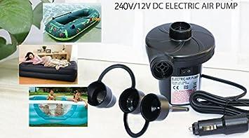 240V MAINS ELECTRIC AIRBED AIR INFLATOR CAMPING//POOL PUMP//DEFLATOR 130W UK PLUG