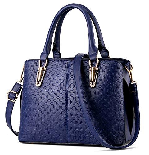 Ladies Handbag Tibes with Blue Shoulder D PU Strap Leather pgawHatBxq