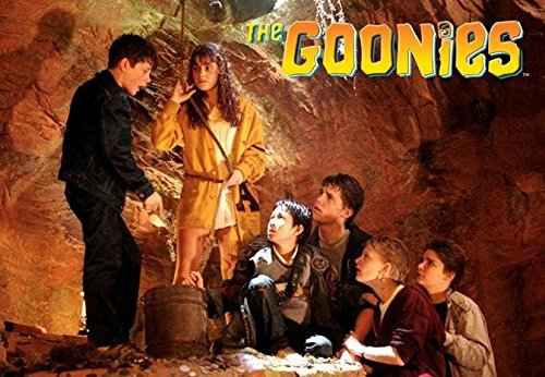 Buyartforless The Goonies Cast in Cave Movie Poster 36x24