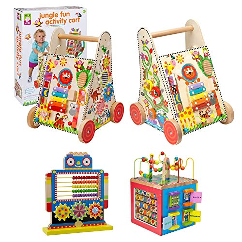 Alex Jr. Jungle Fun Activity Cart, My Busy Town Wooden Activity Cube and Count N Spin Abacus Robot, Playset, Alphabet, Matching, Sensory, Math, Counting, Numbers, Colors, Early Learning, Educational by ALEX Jr. Toys (Image #8)