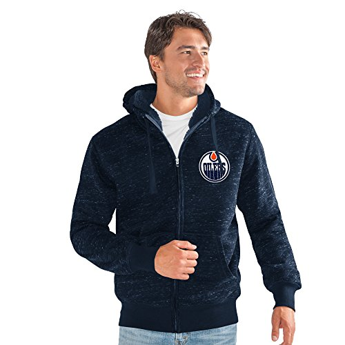 - G-III Sports NHL Edmonton Oilers Men's Discovery Space Dye Transitional Jacket, Medium, Navy