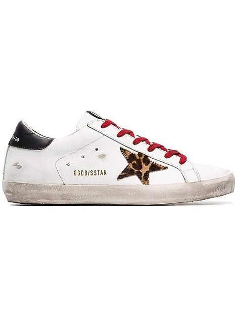 Golden Goose Mujer G34WS590M66 Blanco Cuero Zapatillas: Amazon.es: Zapatos y complementos
