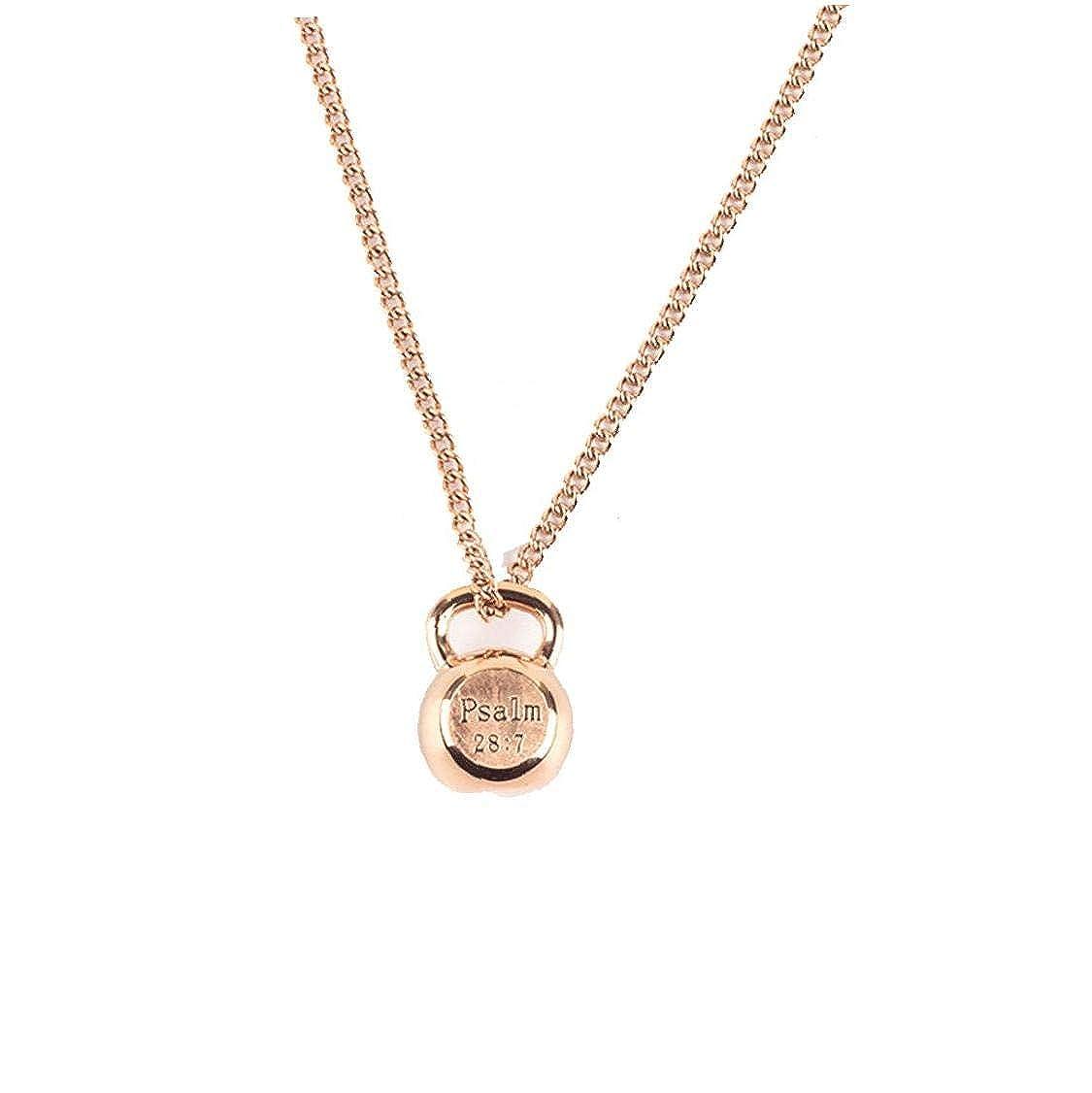 Women Men Titanium Steel Pendant Sport Fitness Kettle Bell Necklace Sport Jewelry for Female Men