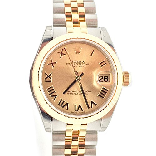 Rolex Datejust 31 Champagne Roman Dial18k Yellow Gold Ladies Watch 178273