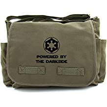 Powered By The Darkside Galatic Empire Heavyweight Canvas Messenger Shoulder Bag