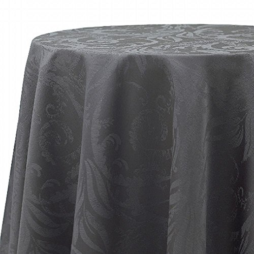 bbb-autumn-scroll-charcoal-gray-damask-fabric-tablecloth-table-cloth-60x104-ob