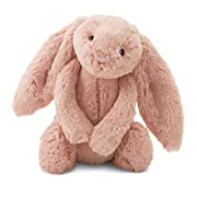 Jellycat Bashful Peach Bunny, Medium, 12 inches