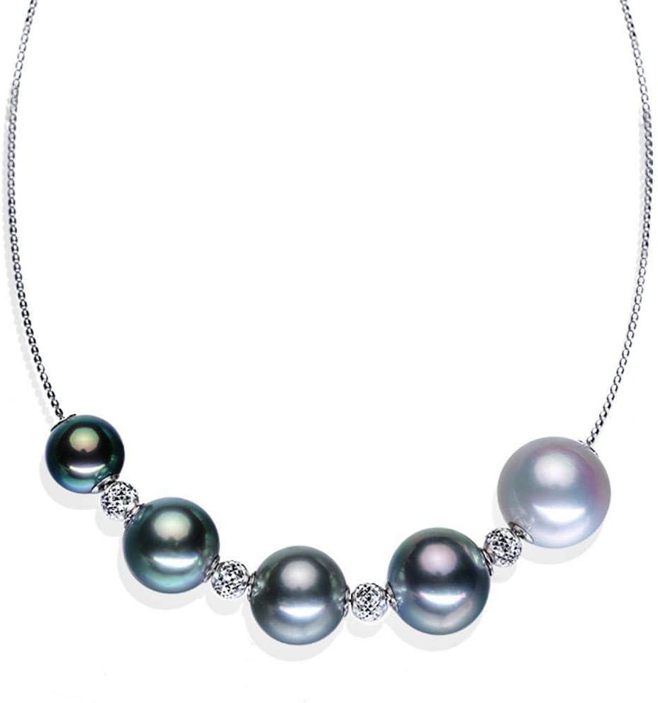 Lnyy Collar de Perlas de mar Natural clavícula Collar de Oro 18k Collar de Perlas de Oro de Lujo
