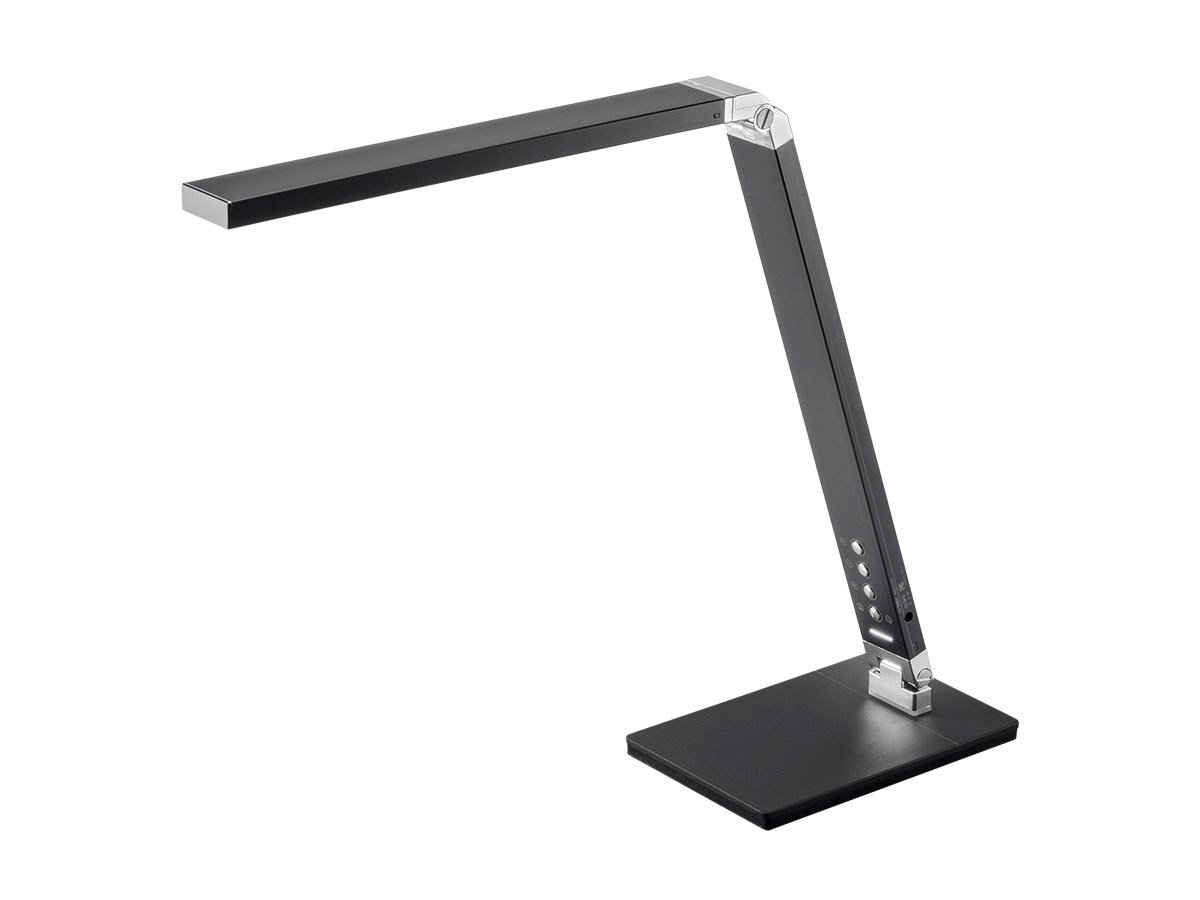 Monoprice 116364 LED Aluminum Desk Lamp, 3.1'' x 18.3'' x 7.6'' , Black