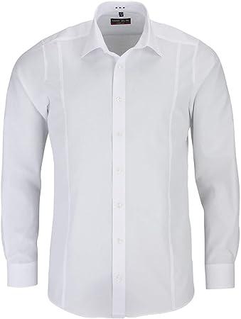Camisa de manga larga de Marvelis, de 68,5 cm de longitud de mangas en corte entallado con cuello Ne
