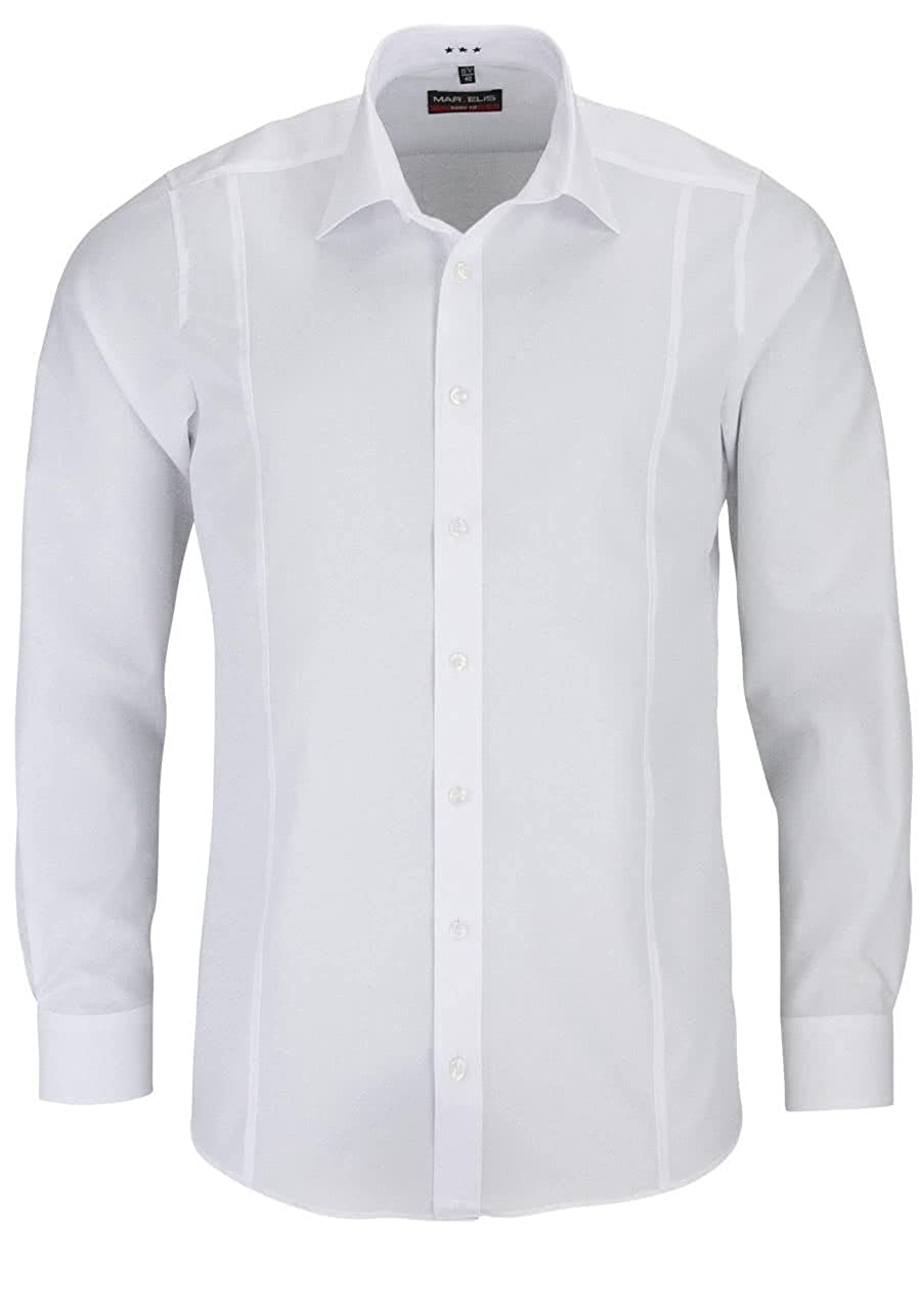Marvelis Camisa Body Fit Blanco con divisiones Costura – 6798.64.00