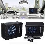 Ruier-hui Car air Conditioner - DC12V 35W Evaporative Black Portable Mini Water Air Cooling Fan