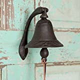CTW Home Collection Cast Iron Logan Dinner Bell With Bracket Dinner Bell - Feel The Vibe Of Traditional Family Meals And Gatherings. Made Of Heavy Cast Iron - Measures 4''W X 5½''D X 6''T