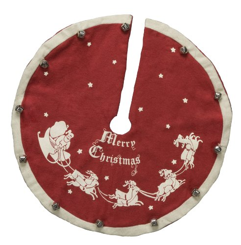 Primitives by Kathy Vintage Tree Skirt, Santa and Sleigh by Primitives by Kathy